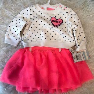 2 piece Infant Sweater Tutu Skirt